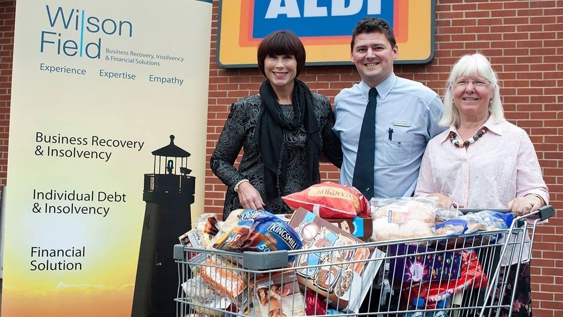 Wilson Field donate to Aldi