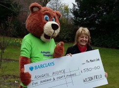 Wilson Field donate to Ashgate Hospicecare