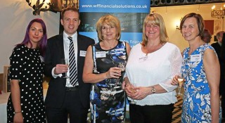 From left: Emma Bower of Wilson Field, Tom Paton of Irwin Mitchell, Julie Fantom, Karina Sullivan and Lisa Hogg of Wilson Field.