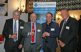 From left: Peter Kennan of Hawsons, Andy Wood of Wilson Field, Andy Stobbart of Santander and Chris Hill of Hawsons.