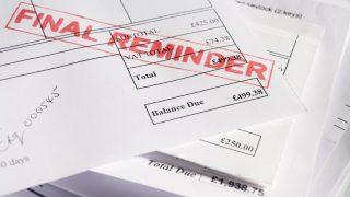 CCJs rise debt fears header