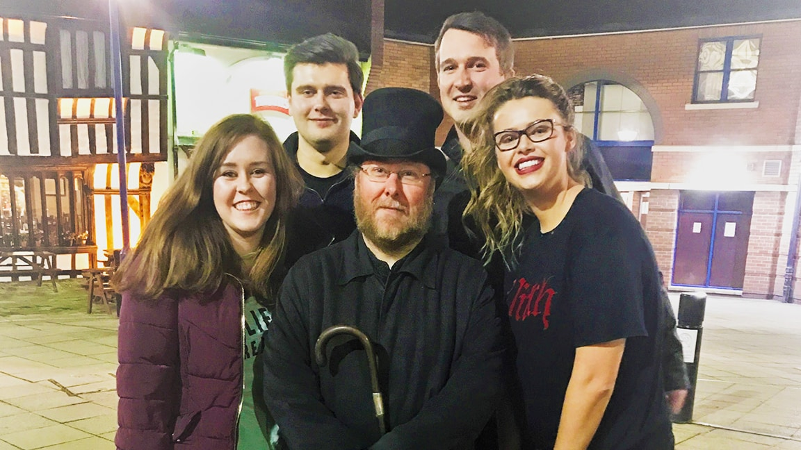 Wilson Field & guests on the ghost tour