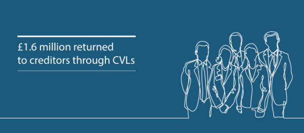 Andy Wood secures milestone CVL dividend to creditors