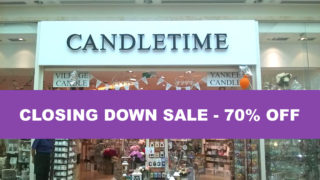 candletime closing down sale